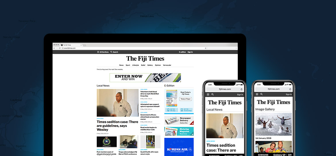SixPorts Launch New Website for the Fiji Times | News | SixPorts